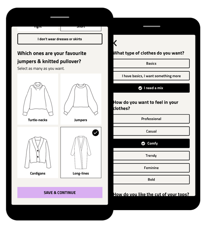 style profile in Hack your closets app