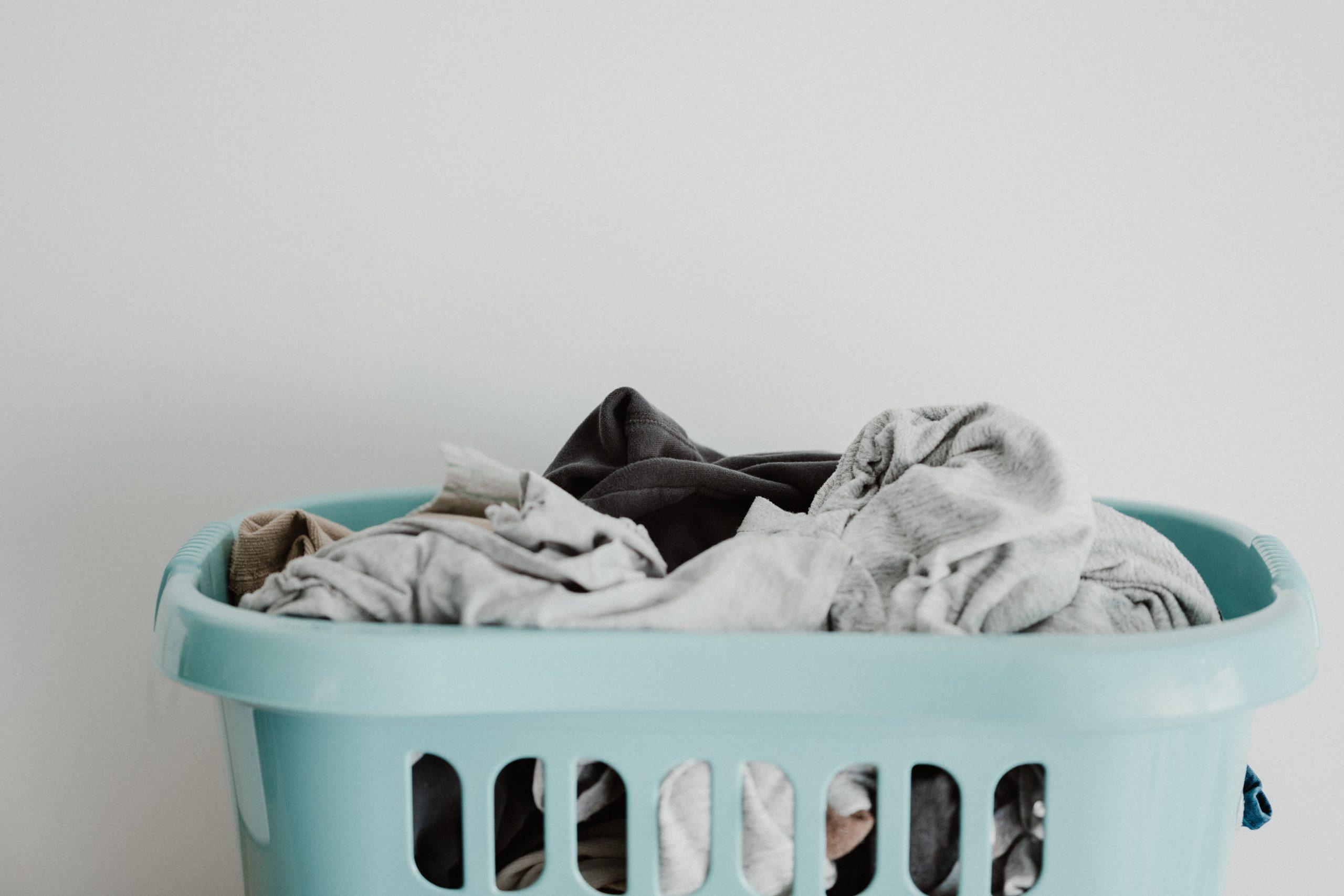 Laundry basket full of clothes Eco-friendly laundry